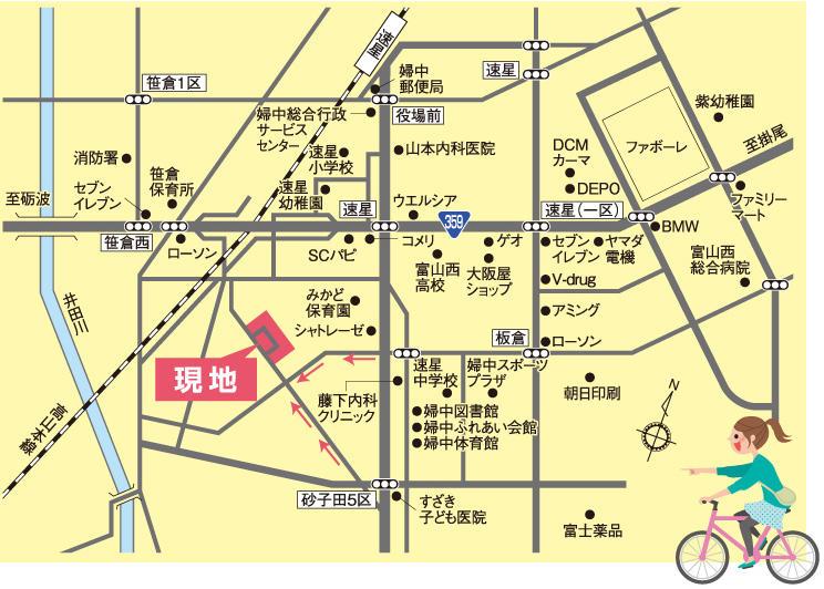 婦中町にて 土地をお探しの方!(クローバータウン砂子田)